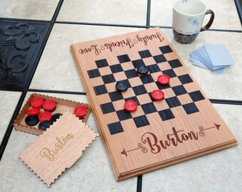 Personalized Game Board  - Custom Family Checker Board - Our First Home Gift - New Homeowner - Family Gift - New Home Gift - Closing Gift