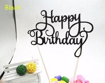 Glitter Gold Silver Happy Birthday Party Cake Toppers Decoration. Smash Cake Topper. Birthday Party.