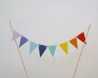 Cake banner Rainbow