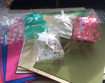 Set of Five party favor boxes