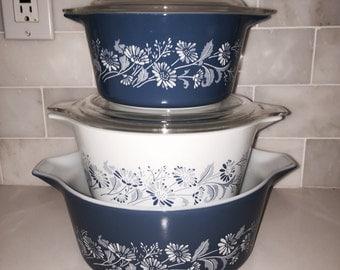 Vintage Pyrex Cinderella bake, serve, and store casseroles