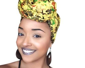 African Headwrap, kente scarves, Ankara Headwraps, kente Headwraps, birthday gift, gift for mom, girlfriend gift, sale