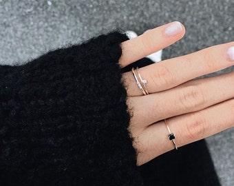 Engagement gold cz ring - Engagement ring - Cz silver ring - Dainty gold ring - Minimalist ring - Dainty jewelry - Minimalist jewelry