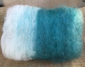 Rare Breed Cotswold Sheep Wool, Alpaca and Mohair Batt for Spinning, Rug Hooking, Felting, Weaving