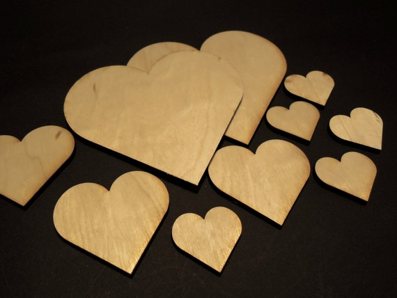 Laser cut wooden heart for craft laser cut various sizes for Wooden hearts for crafts