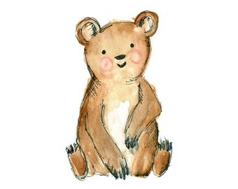 Children's Art - Bear - Woodland Animal