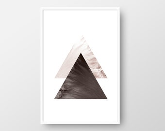Scandinavian Print, Geometric Art, Abstract Triangle Print, Nordic Poster, Geometric Minimalist Art, Triangle Print INSTANT DOWNLOAD