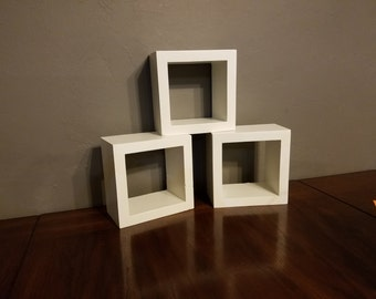Small Square Wood Shelves