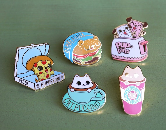 Too Cute To Eat Pins