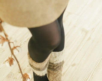 Leg Warmers | Wool Knit Leg Warmers | Grey Leg Warmers | Winter Accessories | Winter | Womens Leg Warmers