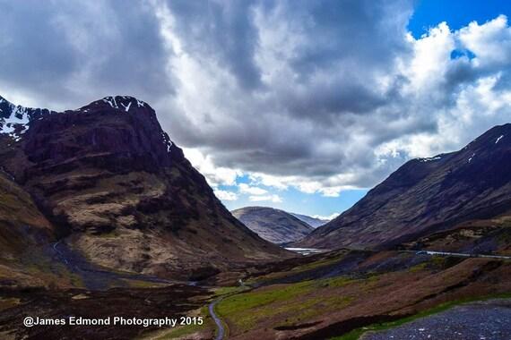 "Landscapes - ""Glencoe - Beautiful Scottish Scenery"", Scottish Photography, Landscape Photography, Wall Art, Wall Decor, Scotland Prints"