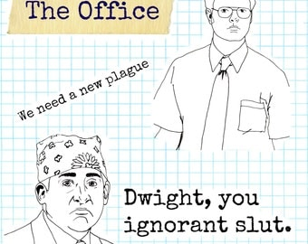 The Office inspired stickers