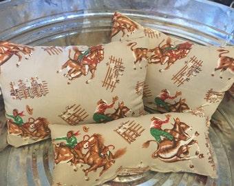 Set of 3 Western Pillows