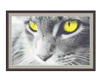 "Counted cross stitch pattern"" Cat"",Instant download PDF"