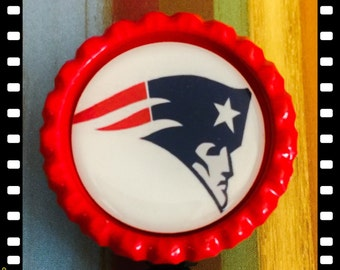 Retractable New England Patriots ID Reel Name Badge Pull