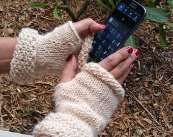 Knitted Fingerless Mitten