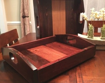 Custom Wooden Serving Tray, Party Tray, Hosting, Rustic, Hand-Made