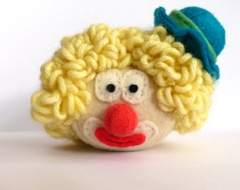 Stuffed Toy Clown Pluche - Bollie the Clown pluche by Handmade-Bollies