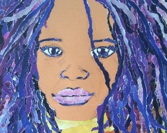 Collage purple hair