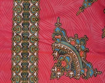 Fuchsia Dark Pink Java Wax Prints African Ankara Fabric Per Panel