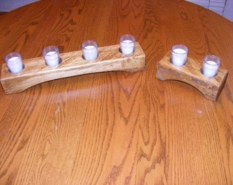 Rustic Center Piece/Candle Holders