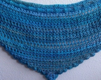 Light Blue Crochet Shawl