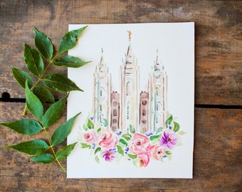 LDS Salt Lake Temple Print