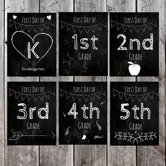 First Day of School Sign, Back to School Sign, Photo Prop, First Day of School Chalkboard Sign, School Prop, Customizable Sign, School Sign