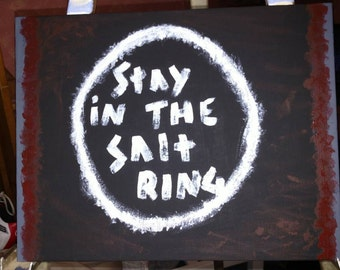Stay in the salt Ring Painting 11x14