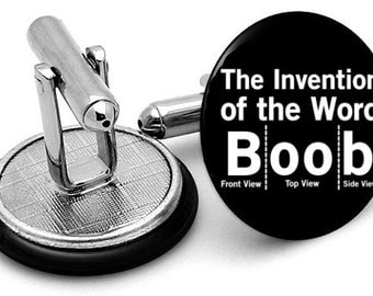 The Word  Boob mens   cufflinks