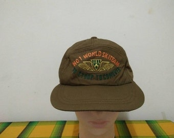 Rare Vintage No 1 WORLD SKITEAM | Winter Season | Snow Cap Hat Free size fit all