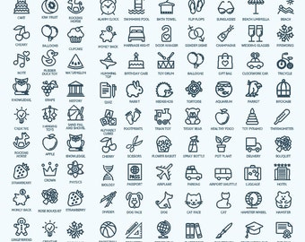 Pack Icons silhouette - More then 900 Vector