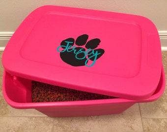 Dog Food Storage Label - Personalized Container Decal - for dog food or treats