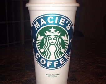 Custom, Starbucks, grande, glitter, glitz, reusable, to-go cup