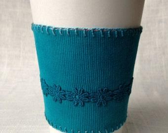 Coffee cup sleeve - handmade