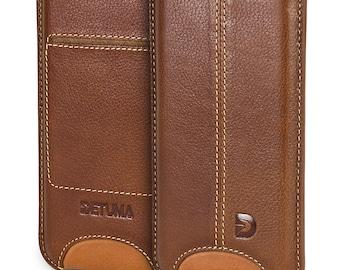 Apple iPhone 6s case, iPhone 6 sleeve leather, natural leather pouch case cover pouch leather case - DETUMA® Talha vintage cognac