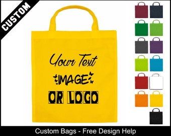yellow cheap customised shopping promotional shoppers bags
