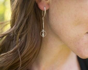 Dangle Open Circles Earrings