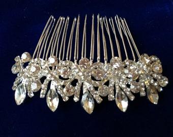 Crystal Rhinestone Flower Hair comb, Bridal Hair comb, Wedding hair accessory,25% off this month
