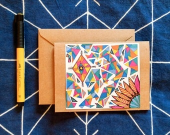 Tribal Triangle Pattern Card