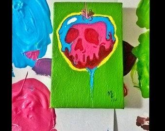 "Poisoned Apple 2x3"" Painting/ Mini Art"