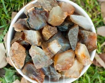 4 Agate Specimens | Agate Rough Stones | Healing Stones | Healing Crystals | Crystal Specimen