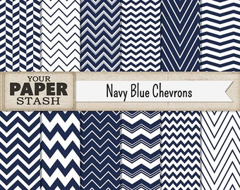 Chevron Digital Paper, Blue, Navy Blue, Chevron, Nautical, Wedding, Boy, Masculine, Digital Papers, Scrapbook Paper, Commercial Use, Print