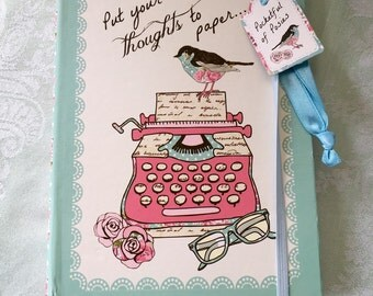 Put Your Thoughts to Paper Bird Print Notebook