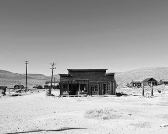 Bodie Ghost Town Print Abandoned Store Photo Landscape Print California America West Wall Art Home Decor Living Room Art Bedroom Print