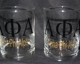 Alpha Phi Alpha Glasses (set of 2)