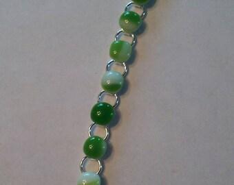 Glass fused bangle bracelet