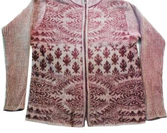 Vintage Fabric Tunic Top Indian Craft Fabric Velvet Woolen Winter Dress Zipper Dress Top Round Neck Tunic Woolen Dress Full Sleeves Sweater