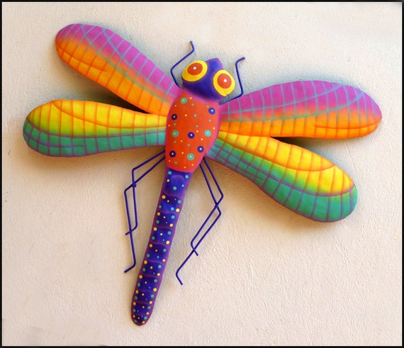Dragonfly Nursery Wall Decor : Dragonfly metal art wall decor by