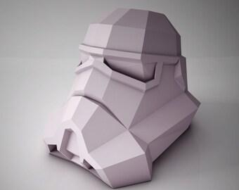 DIY PAPER SCULPTURES  Exclusive - Star Wars Stormtrooper Head Bust